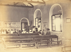Classroom, with lesson in progress, in the Anglo-Vernacular School, Karachi 4649